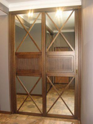 Шкаф купе шпонированный с делитель наклейками Химки