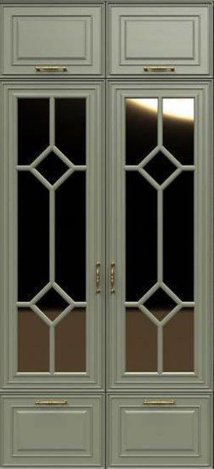 Фасад с фигурной филенкой эмаль Химки