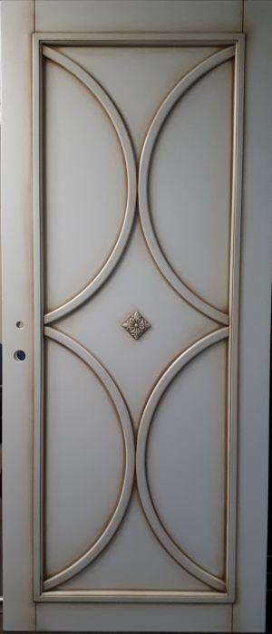 Межкомнатная дверь в профиле массив (эмаль с патиной) Химки