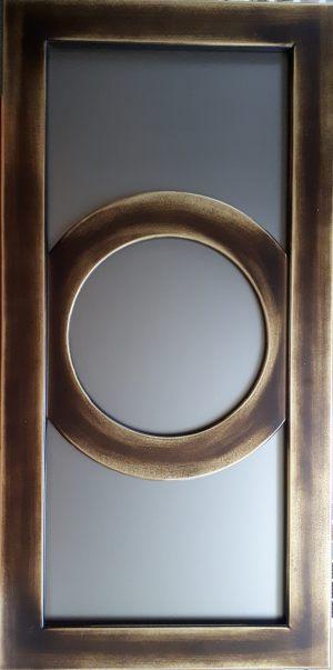 Фасад с фигурной филенкой эмаль+золотая патина Химки