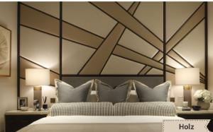 Декорированная стена с использованием эко кожи Химки