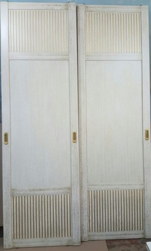 Двери для шкафа купе с фрезеровкой Химки